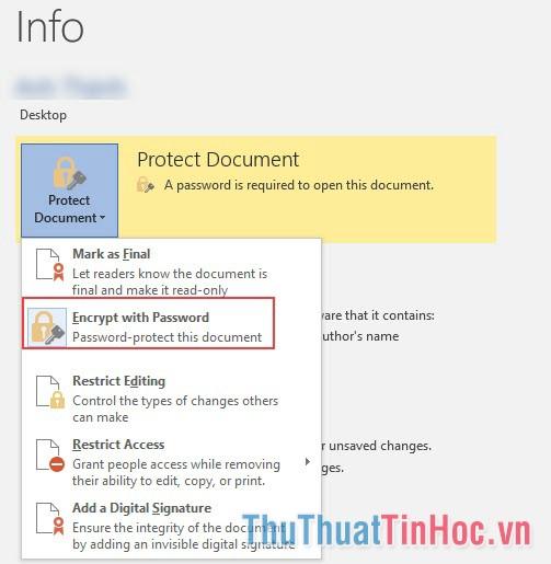 Bỏ mật khẩu cho tài liệu Word, Excel, Powerpoint
