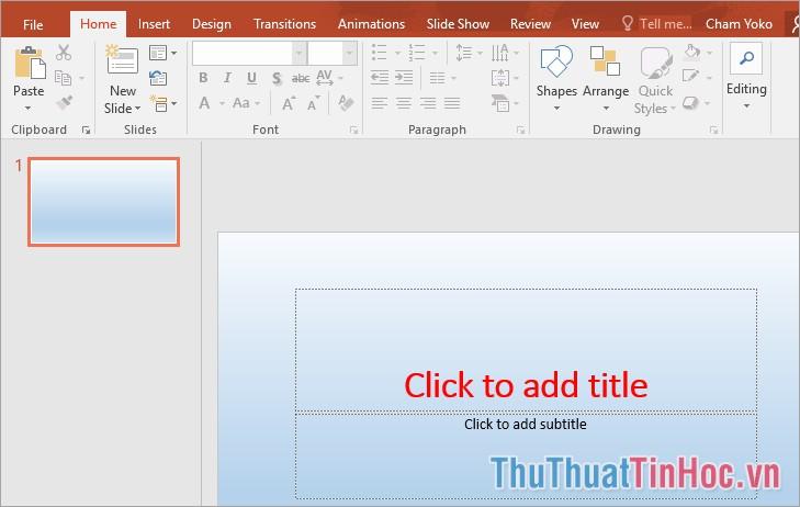 Các định dạng của Slide Master sẽ được áp dụng vào các slide đã có sẵn