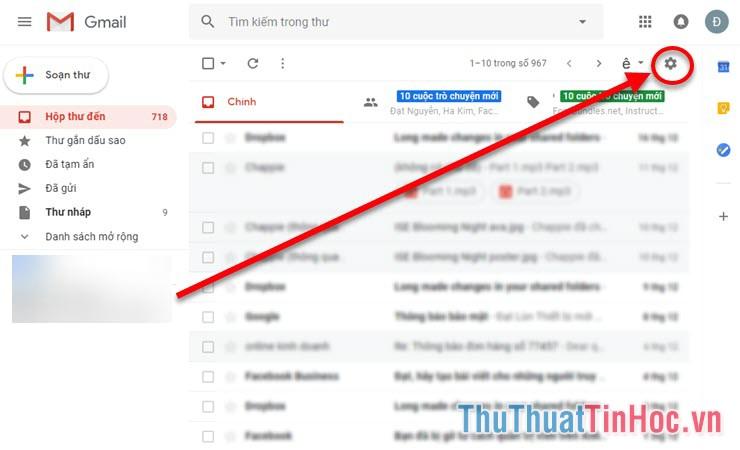 Đăng nhập tài khoản Gmail của mình