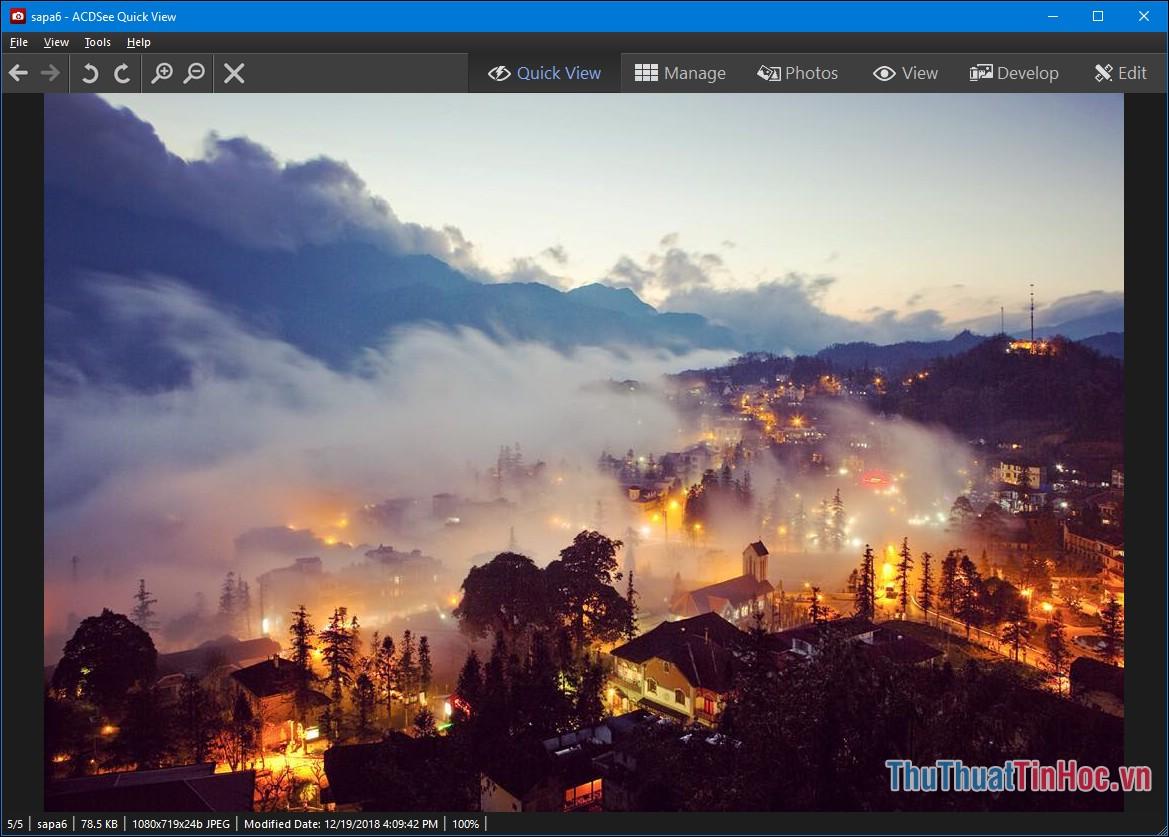 Bạn có thể xem hơn 100 định dạng ảnh khác nhau, ngoài ra còn chuyển đổi qua lại giữa nhiều định dạng ảnh, tải ảnh lên mạng xã hội.