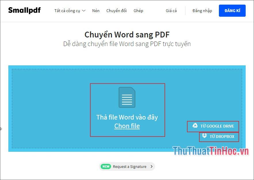 Chọn đầu vào cho file Word
