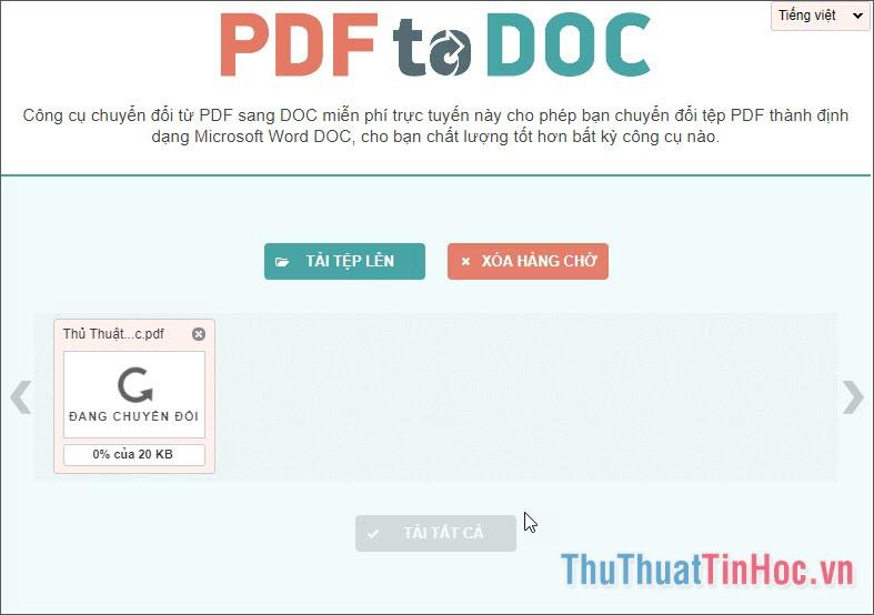 Phần mềm sẽ tự động chạy để chuyển đổi tài liệu của bạn