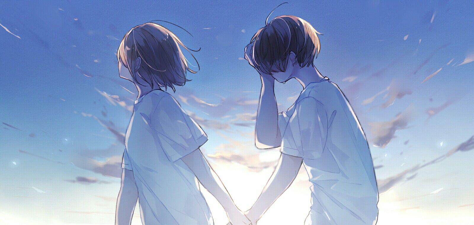 Ảnh đôi Anime ấm áp