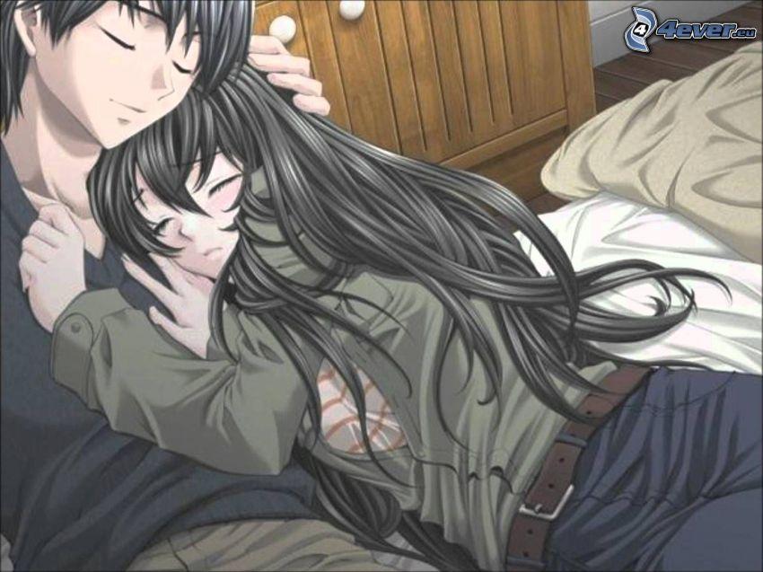 Ảnh đôi Anime nồng nàn ấm áp