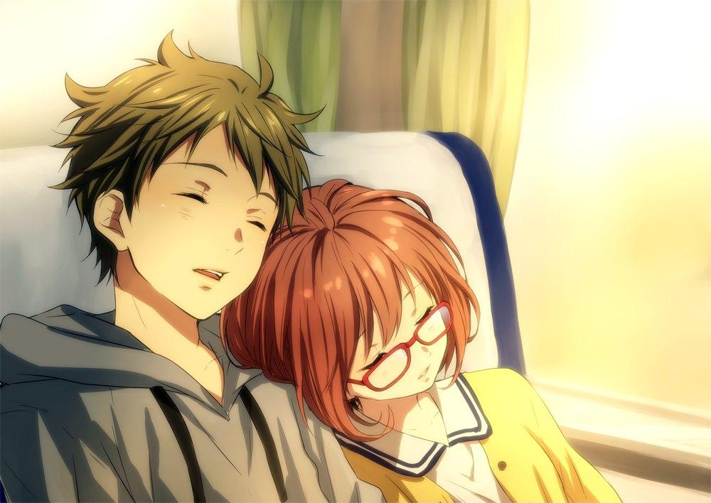 Ảnh đôi Anime siêu tình cảm lãng mạn