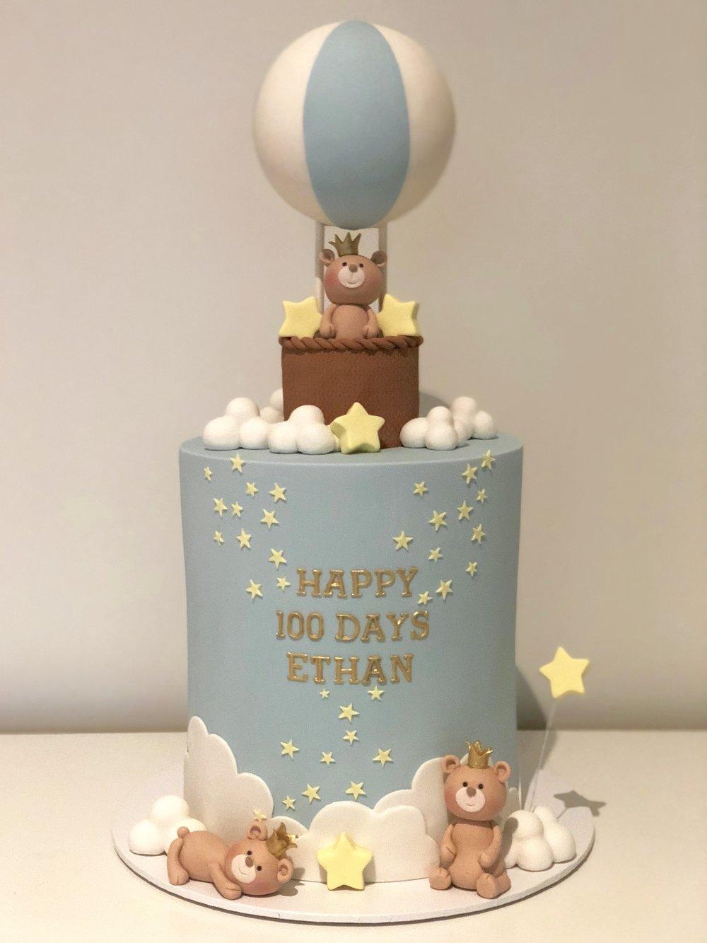 Bánh sinh nhật hình khinh khí cầu