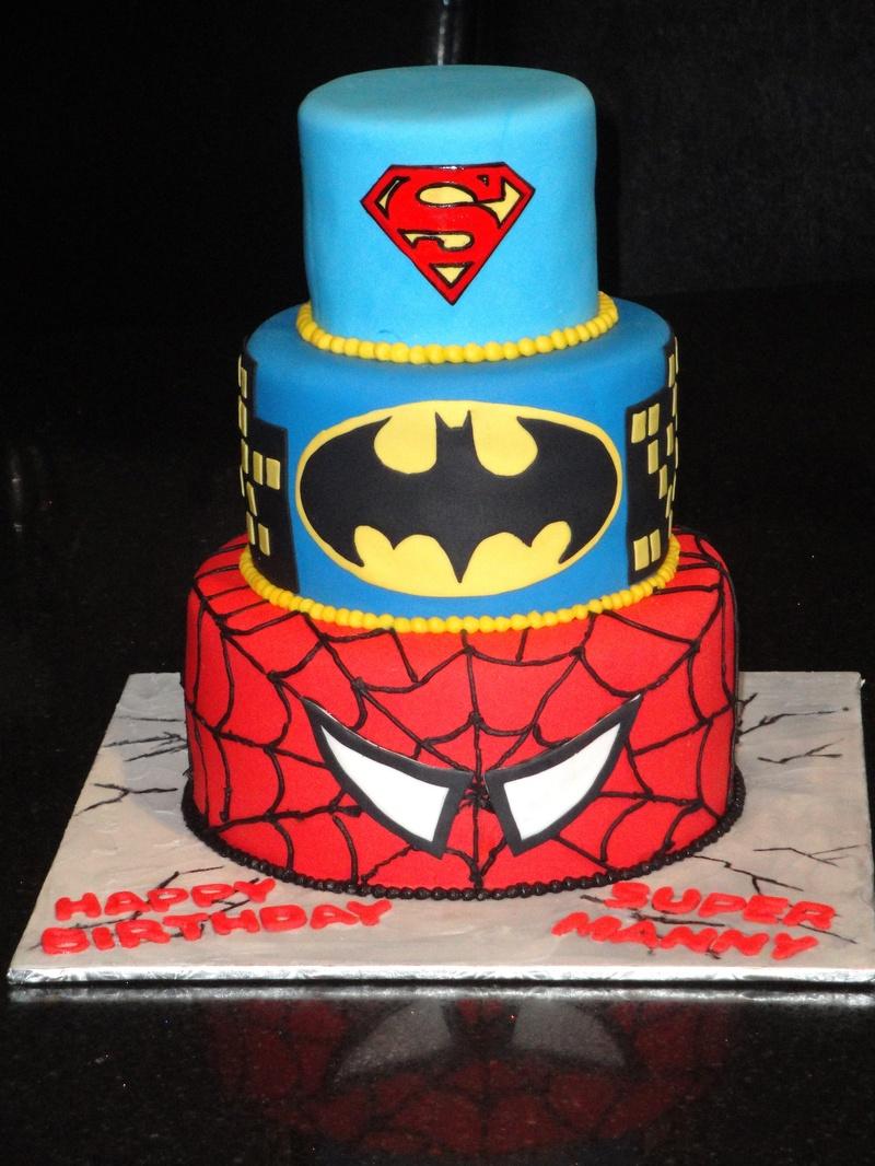 Bánh sinh nhật Spider man, Batman, Superman