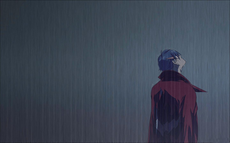 Hình ảnh anime cô đơn dưới mưa đẹp
