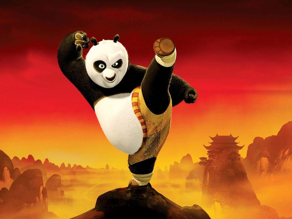 Hình ảnh hoạt hình Kungfu panda dễ thương