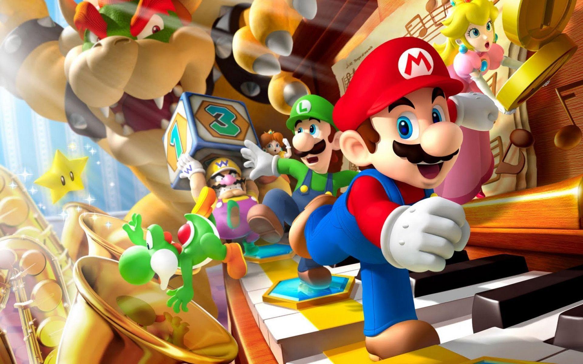 Hình ảnh hoạt hình Mario dễ thương