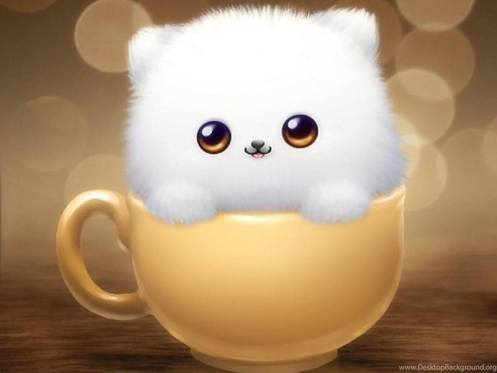 Hình ảnh hoạt hình mèo trắng dễ thương