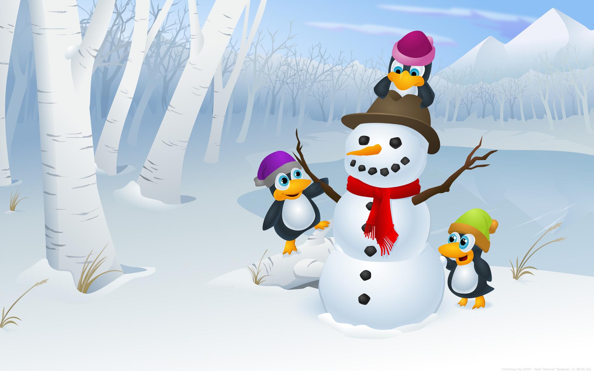 Hình ảnh hoạt hình người tuyết dễ thương