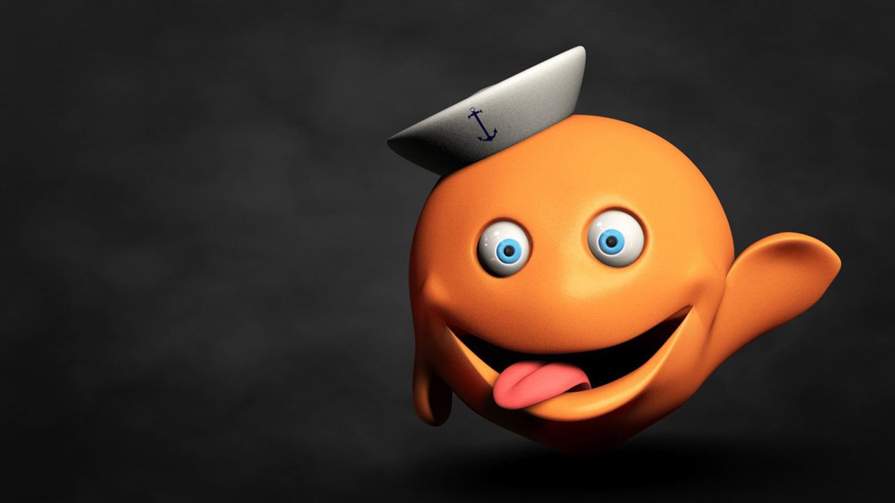 Hình ảnh hoạt hình quả cam vui tính dễ thương