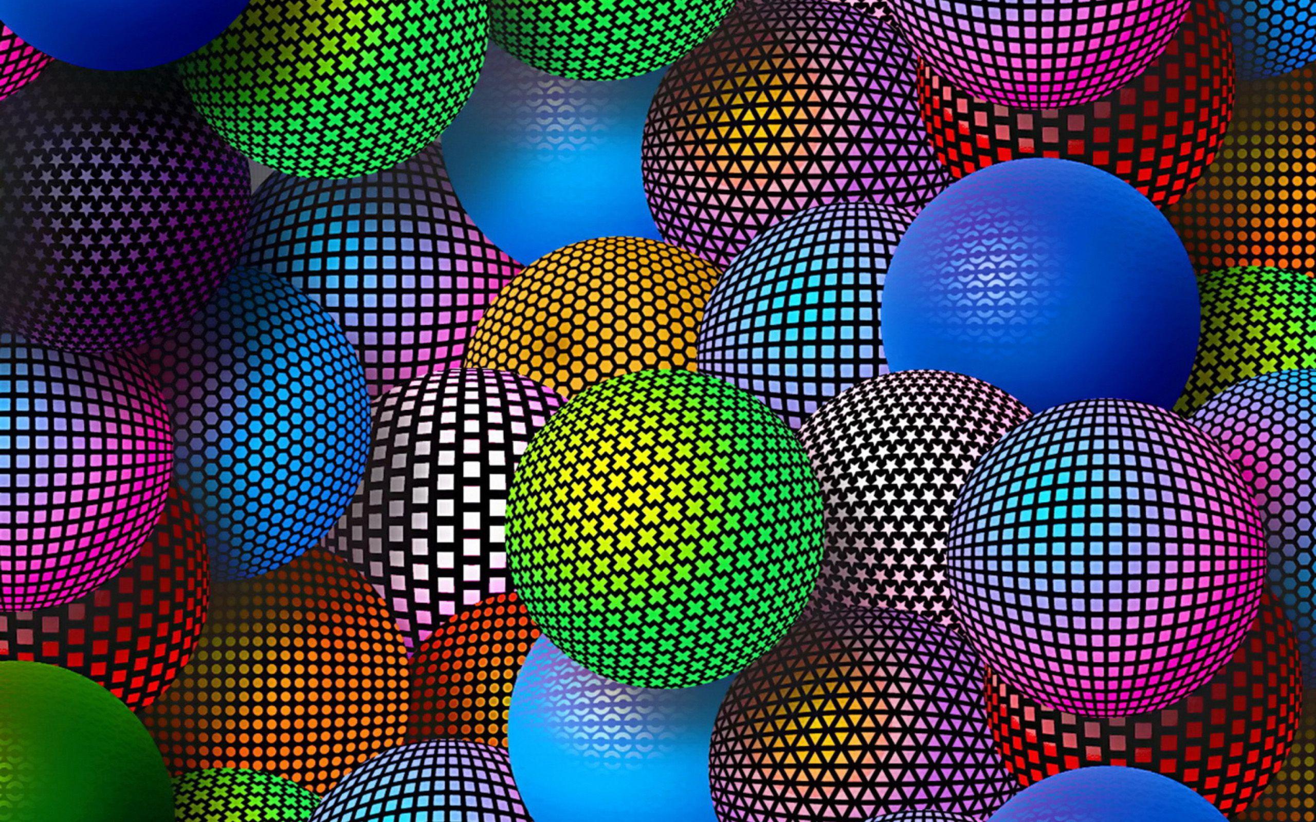Hình nền 3D bóng cầu vồng
