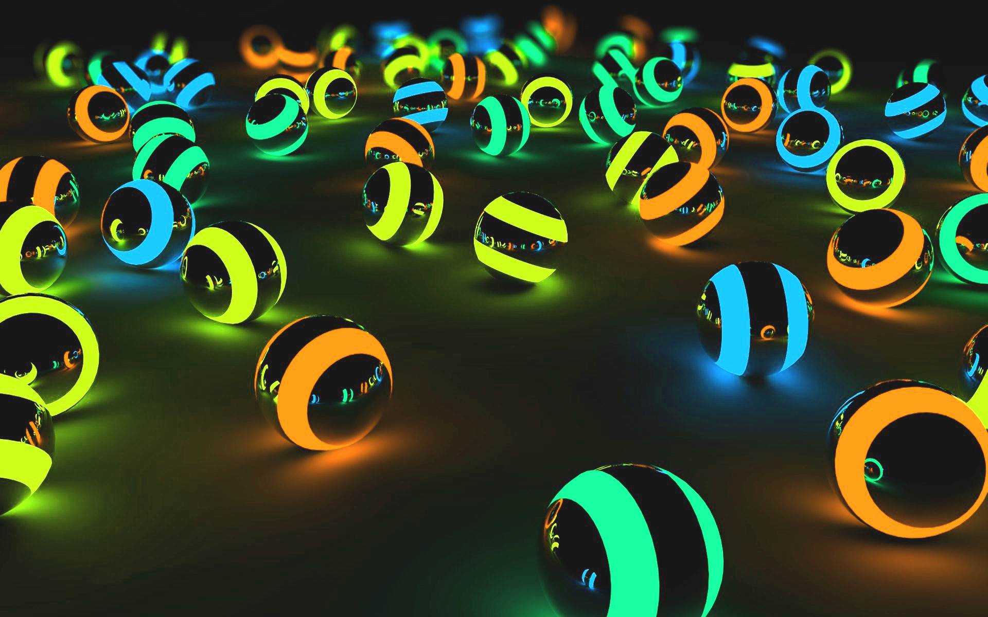 Hình nền 3D bóng neon