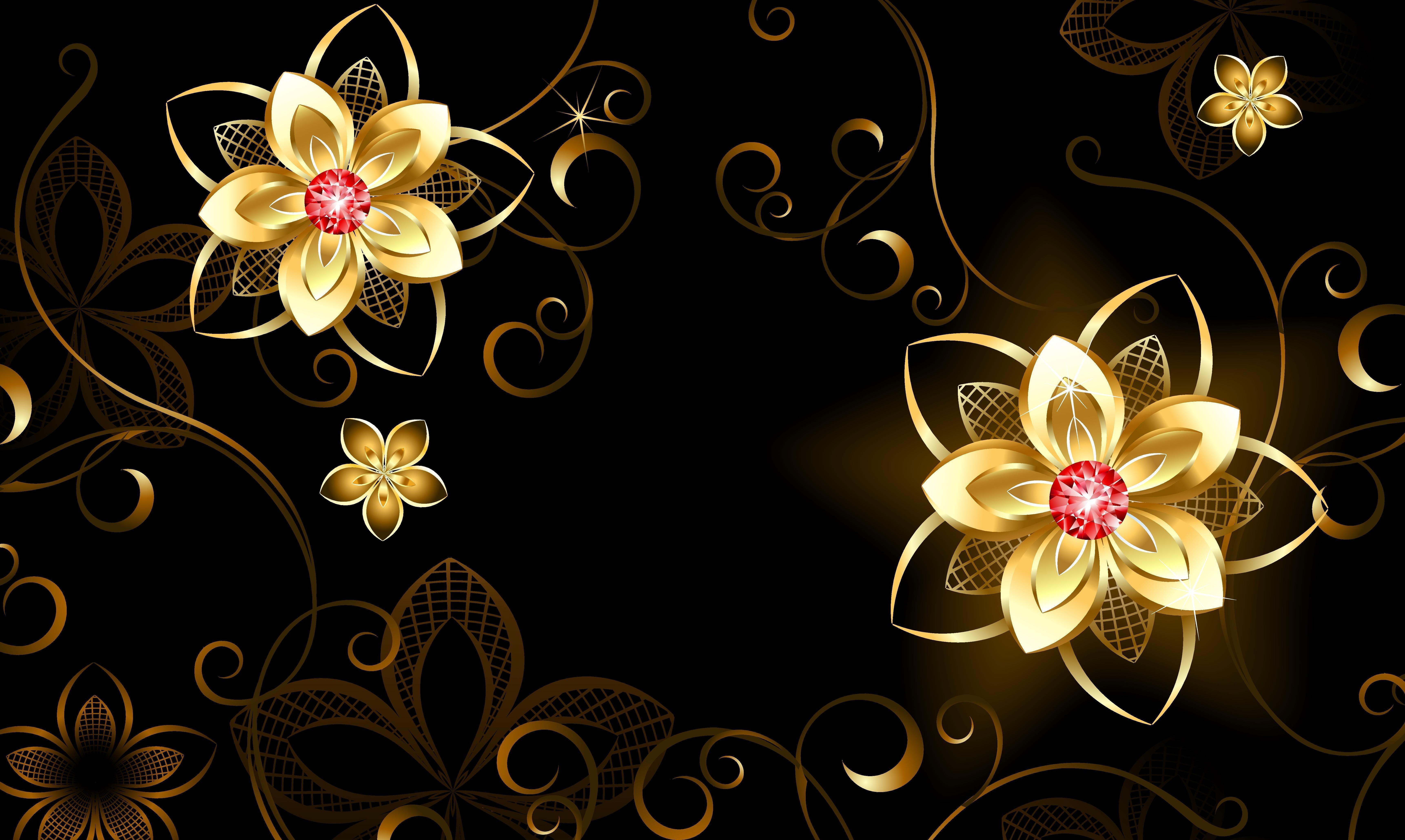 Hình nền 3D hoa hào quang