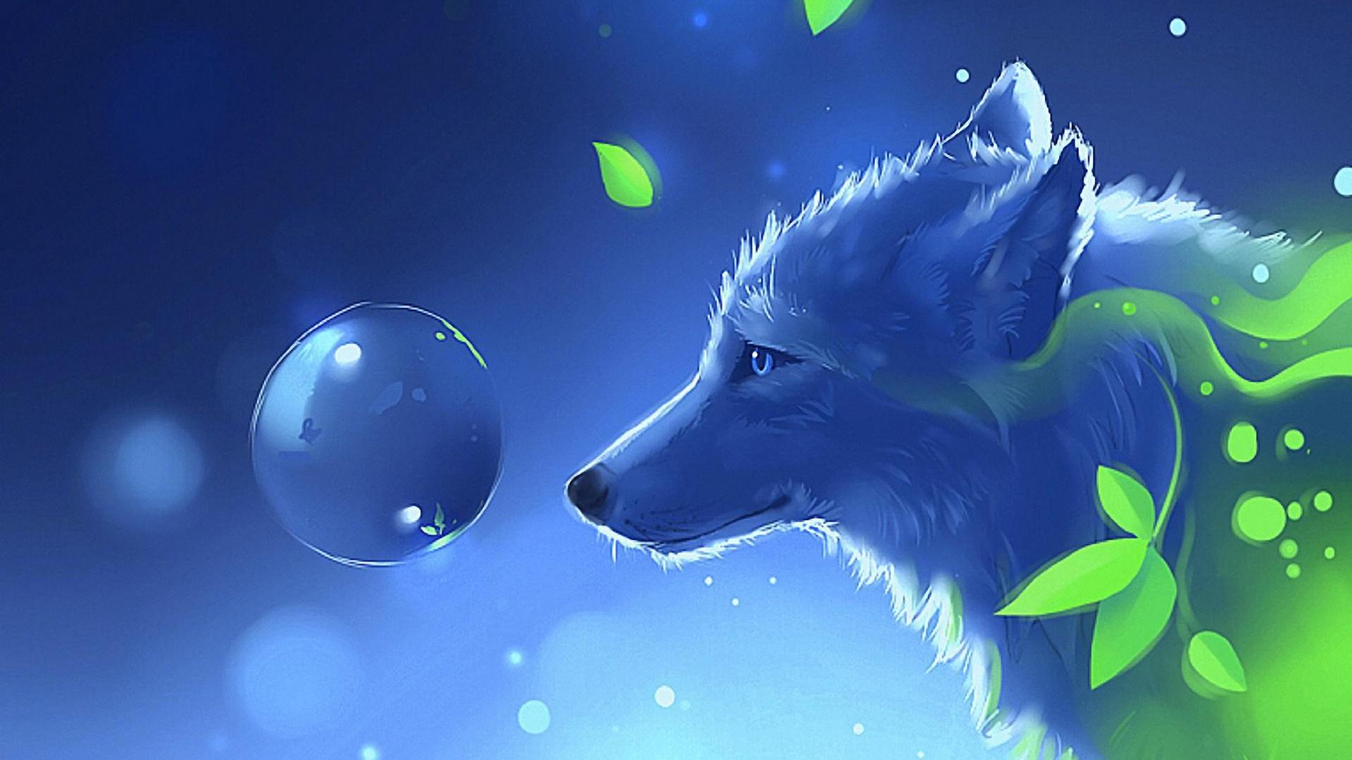 Hình nền 3D sói
