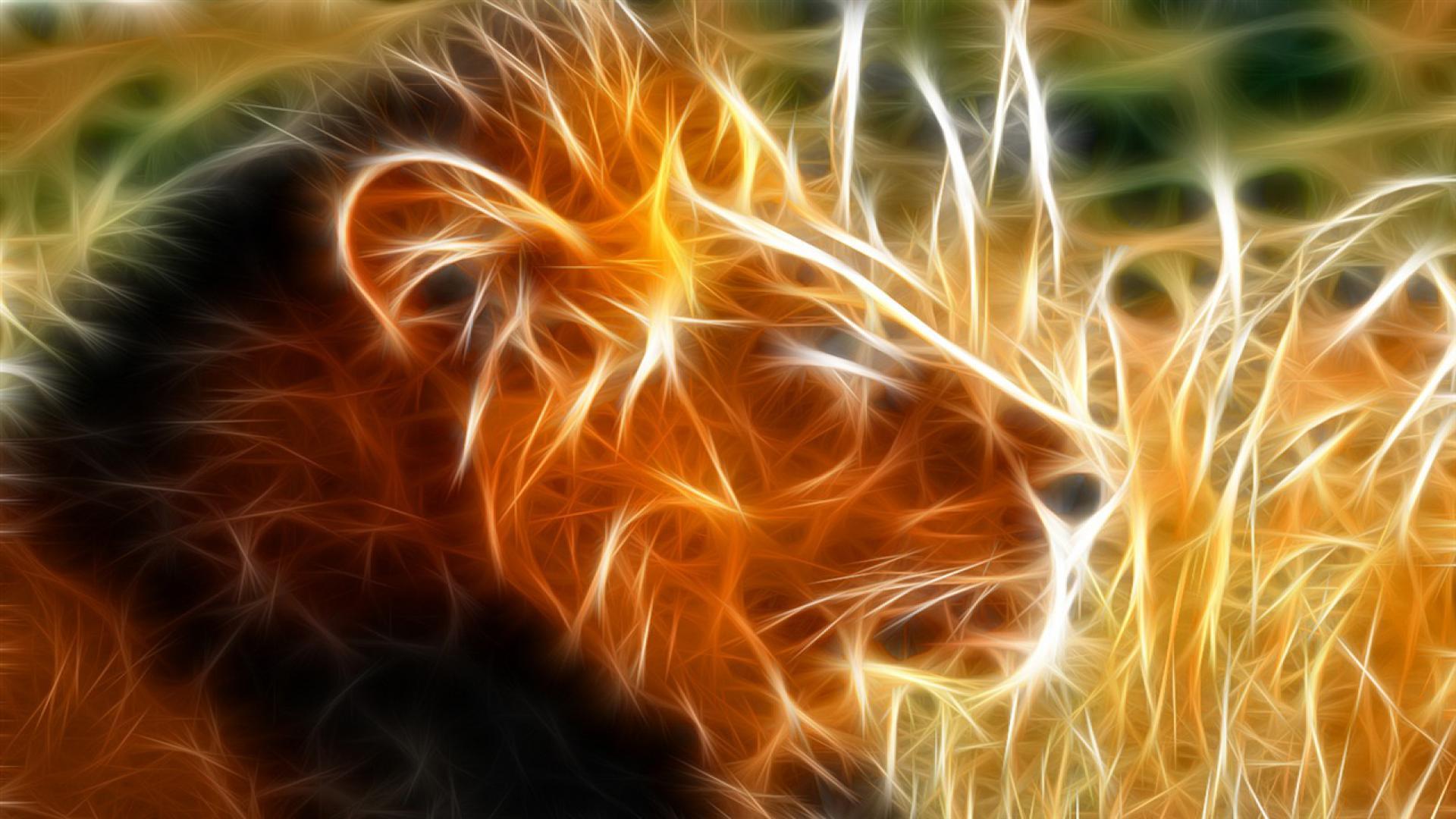 Hình nền 3D sư tử đẹp