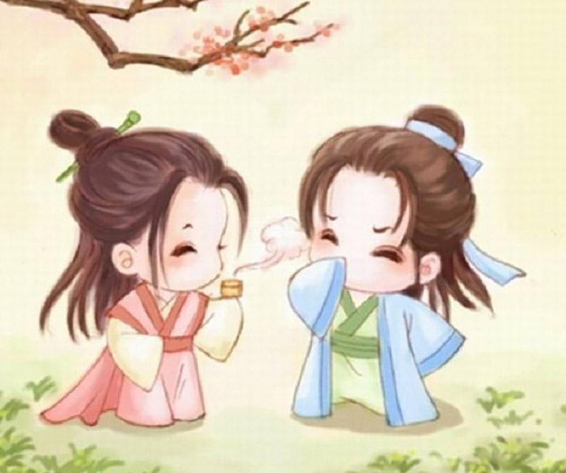 Hình ảnh tình yêu hoạt hình anime ngộ nghĩnh dễ thương