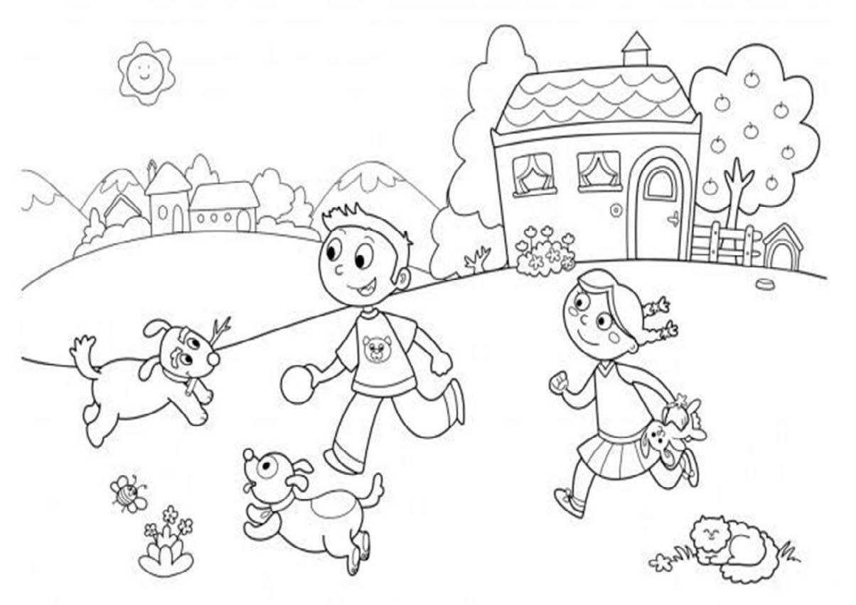 Tranh tô màu con vật cho bé phát triển tư duy 7