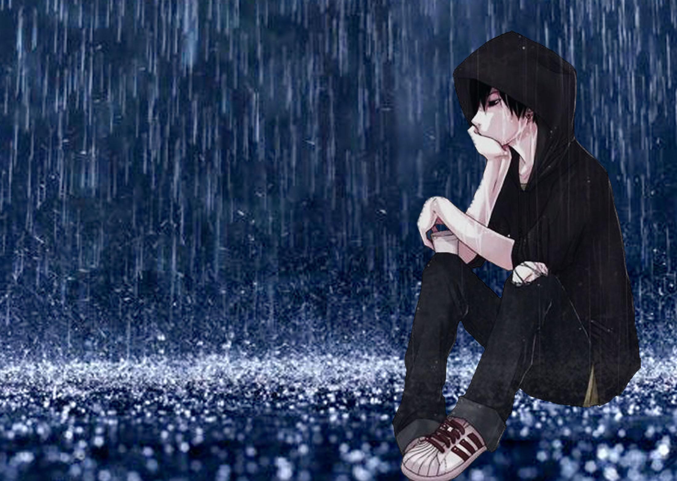 Hình ảnh chàng trai buồn và cô đơn trong đêm