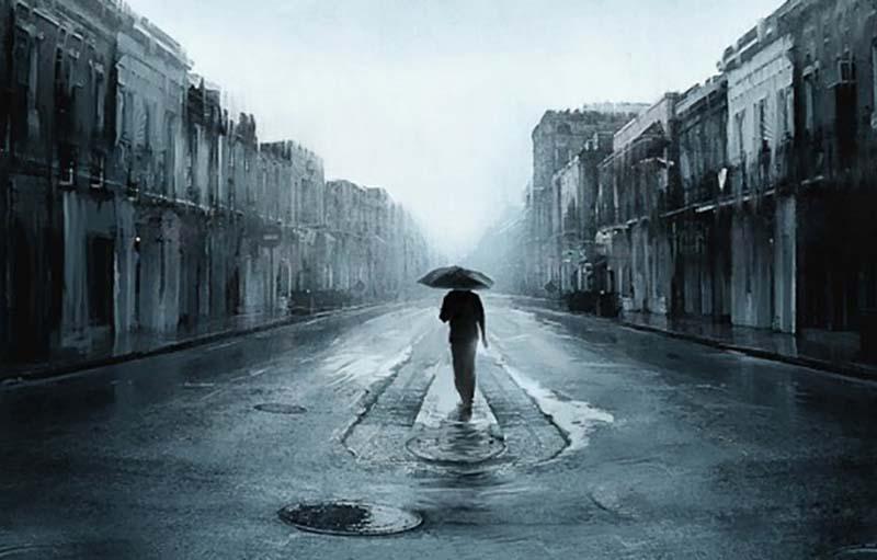 Hình ảnh thiên nhiên buồn, cô đơn nhất trong cuộc sống