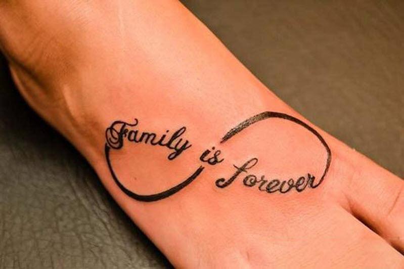 Hình xăm chữ gia đình đẹp nhất