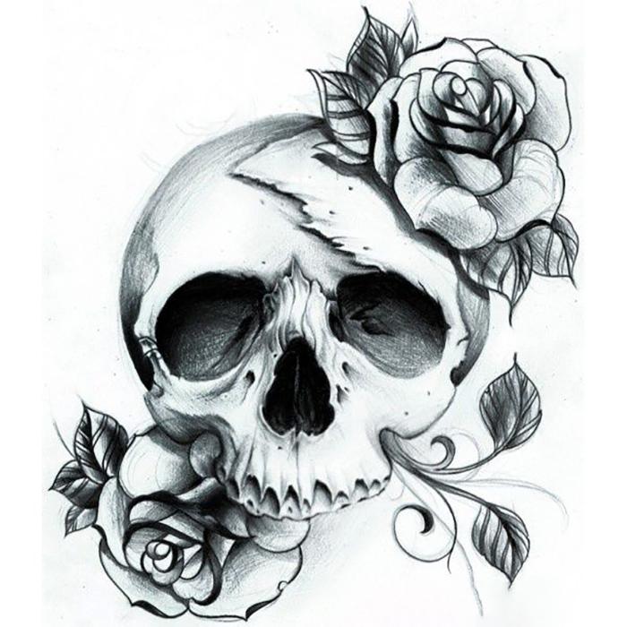 Hình xăm hoa hồng đầu nâu đẹp nhất