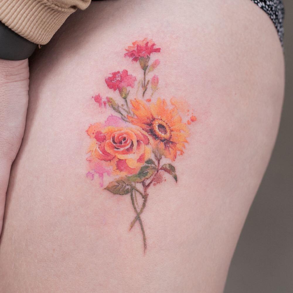 Hình xăm hoa hồng đẹp nhất