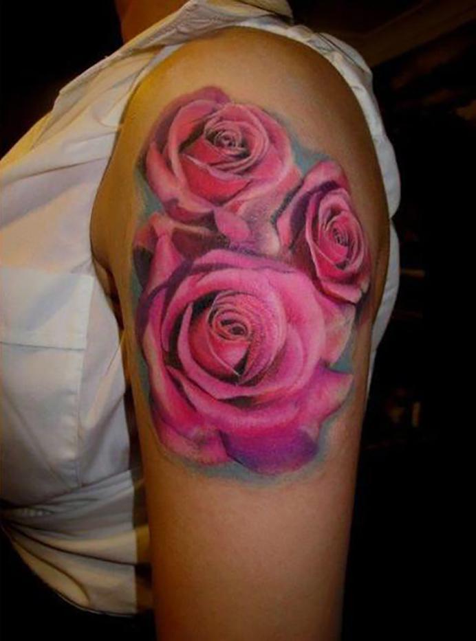 Hình xăm hoa hồng và ý nghĩa