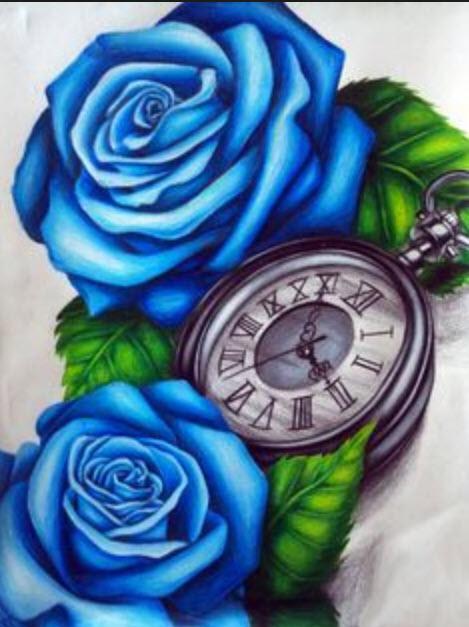 Hình xăm hoa hồng xanh và ý nghĩa đặc biệt của chúng