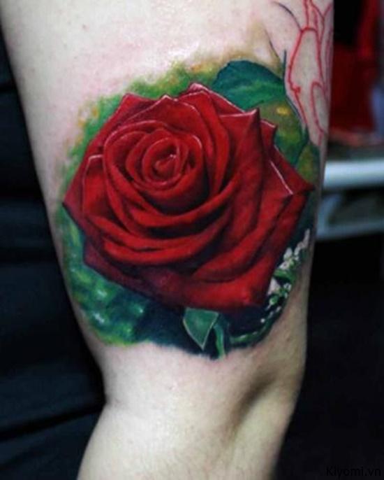 Những hình xăm hoa hồng đỏ đẹp nhất