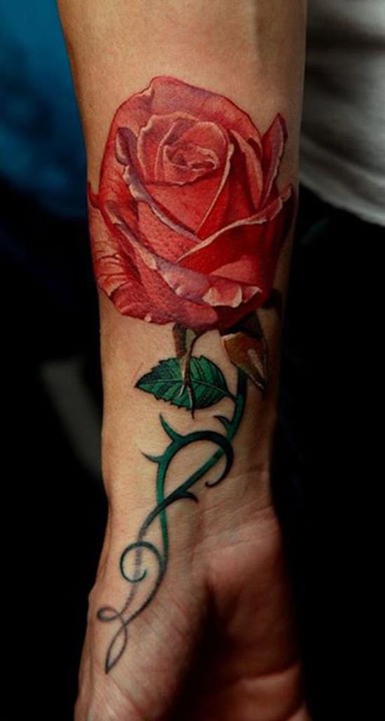 Tổng hợp những hình xăm hoa hồng đẹp nhất cho nữ