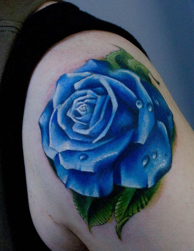 Ý nghĩa hình xăm hoa hồng xanh đẹp nhất cho nam  giới