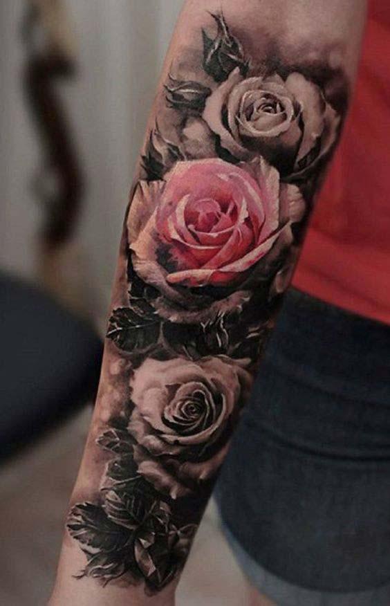 Ý tưởng hình xăm hoa hồng đẹp nhất cho nữ