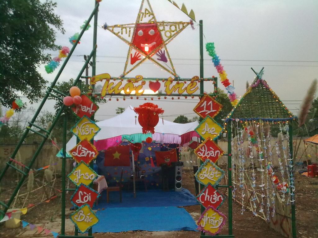 Mẫu cổng trại chào mừng 26 tháng 3 đẹp nhất