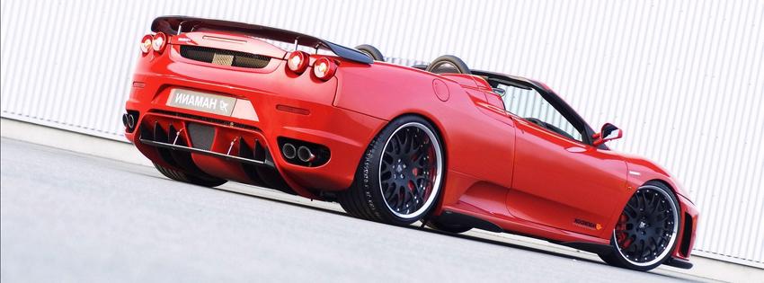 Ảnh bìa Facebook siêu xe Ferrari