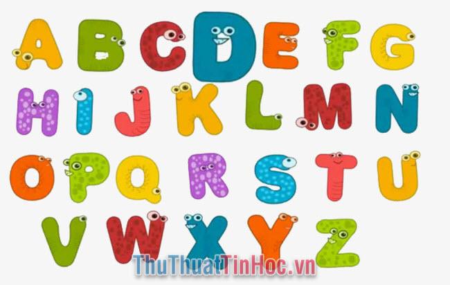Bảng chữ cái tiếng Anh - 1