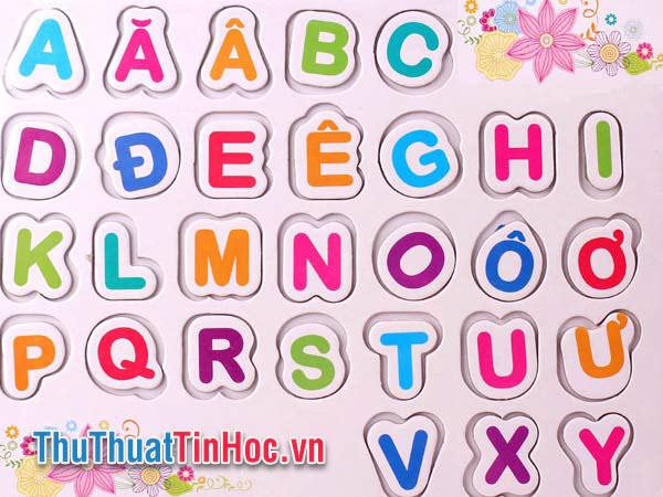 Bảng chữ cái tiếng Việt - 1