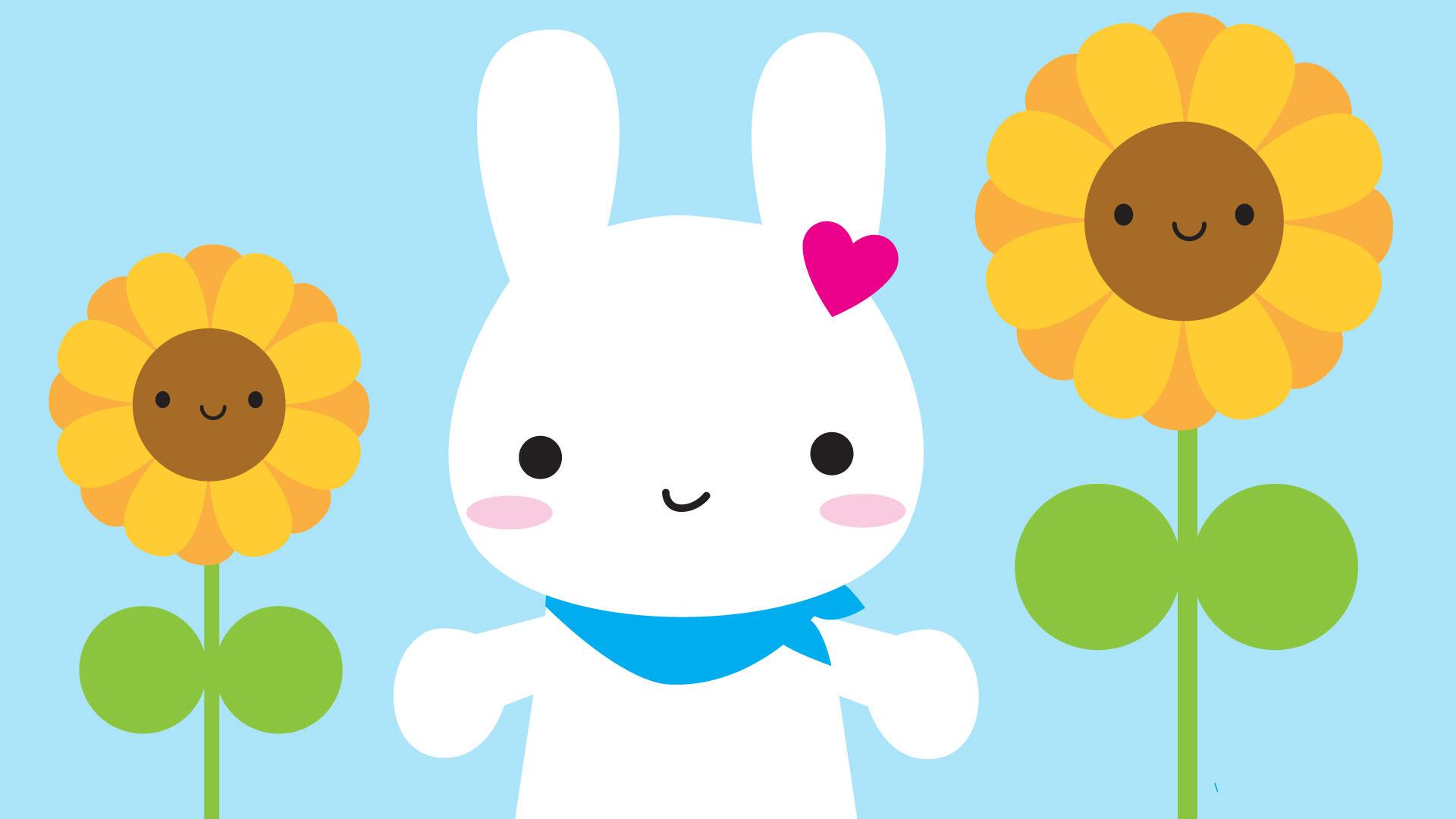 Hình nền chú thỏ siêu cute