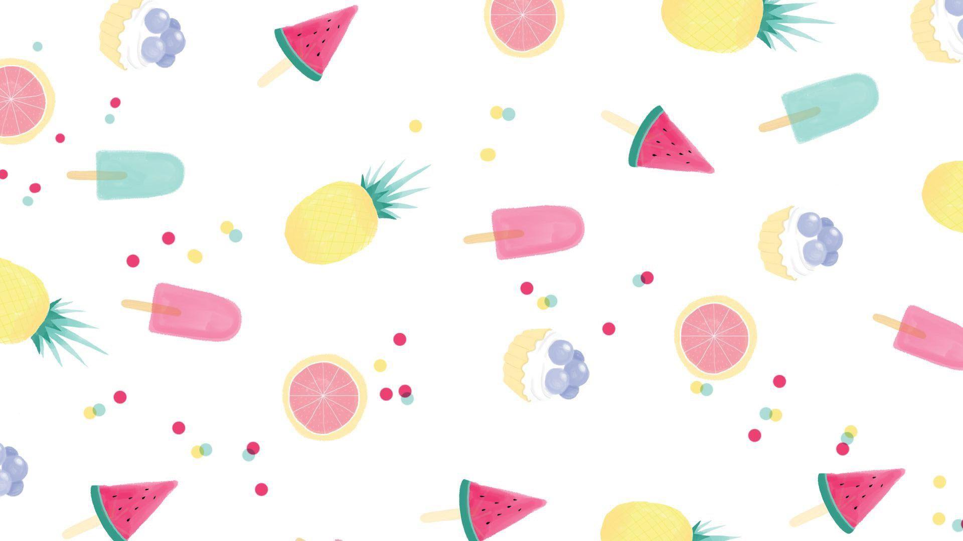 Hình nền hoa quả cute đẹp