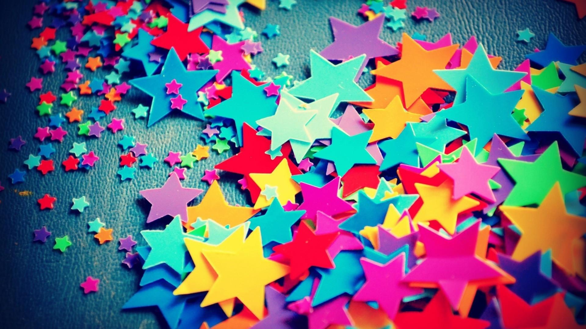 Hình nền những ngôi sao nhiều sắc màu dễ thương