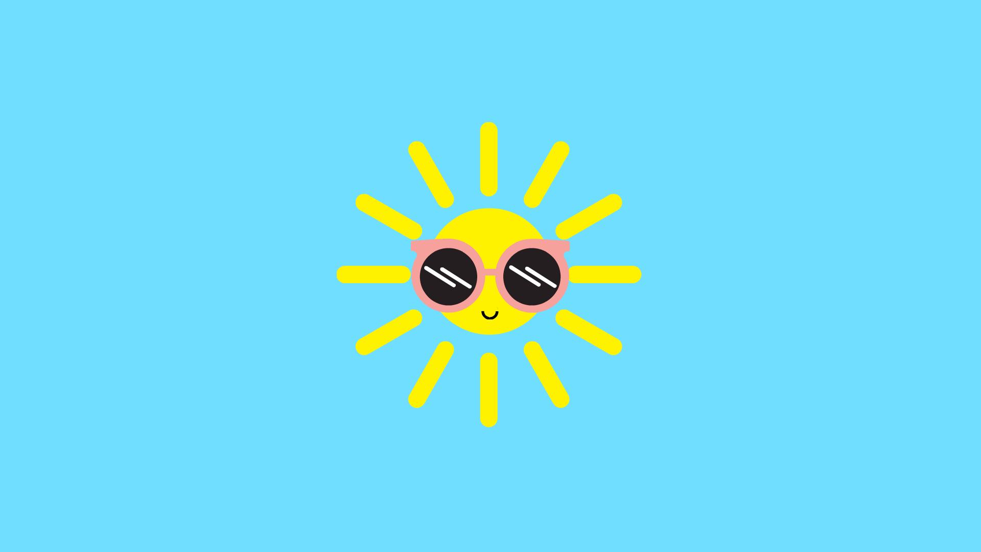 Hình nền ông mặt trời cute nhất