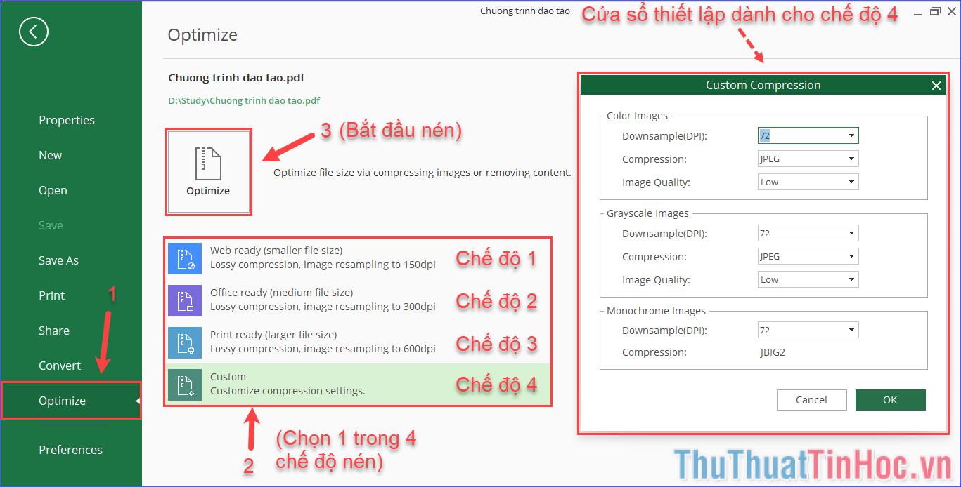 Cách nén file PDF - Làm giảm dung lượng file PDF hiệu quả nhất