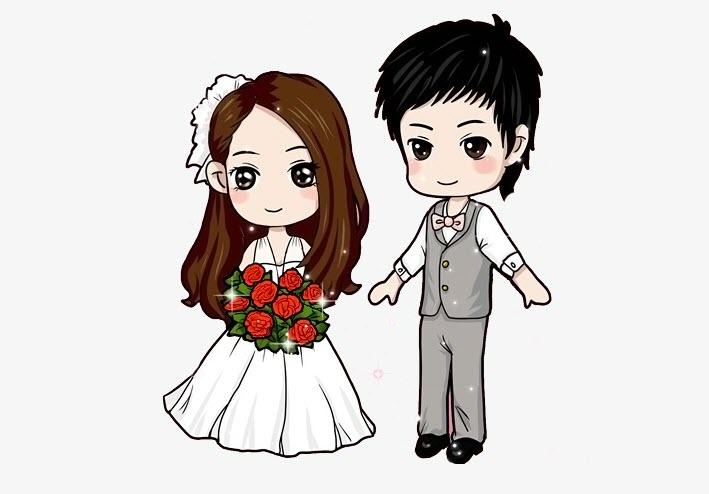 Hình ảnh chibi đám cưới đẹp