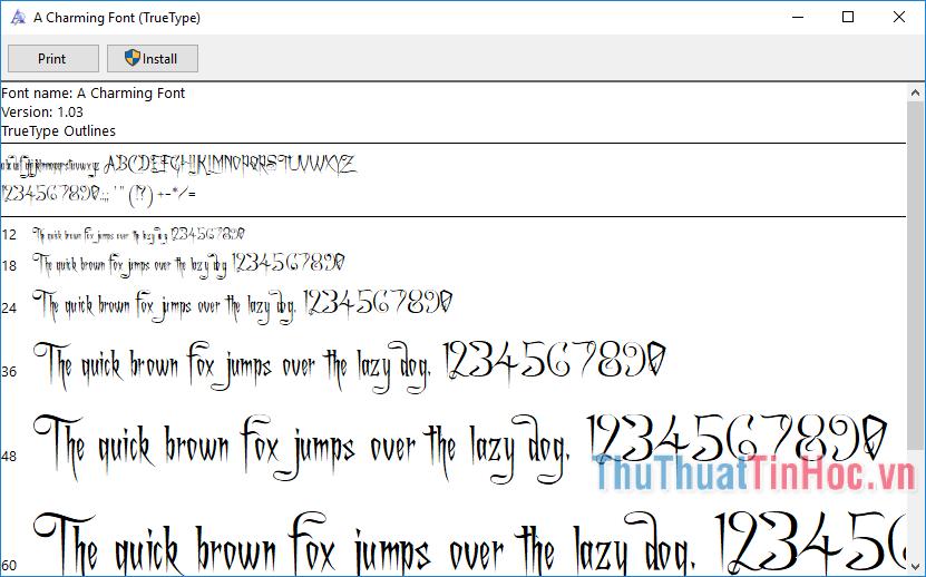 Bộ font Cad đầy đủ, full mới nhất