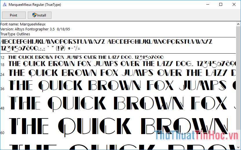 Hình ảnh một số font chữ - 3