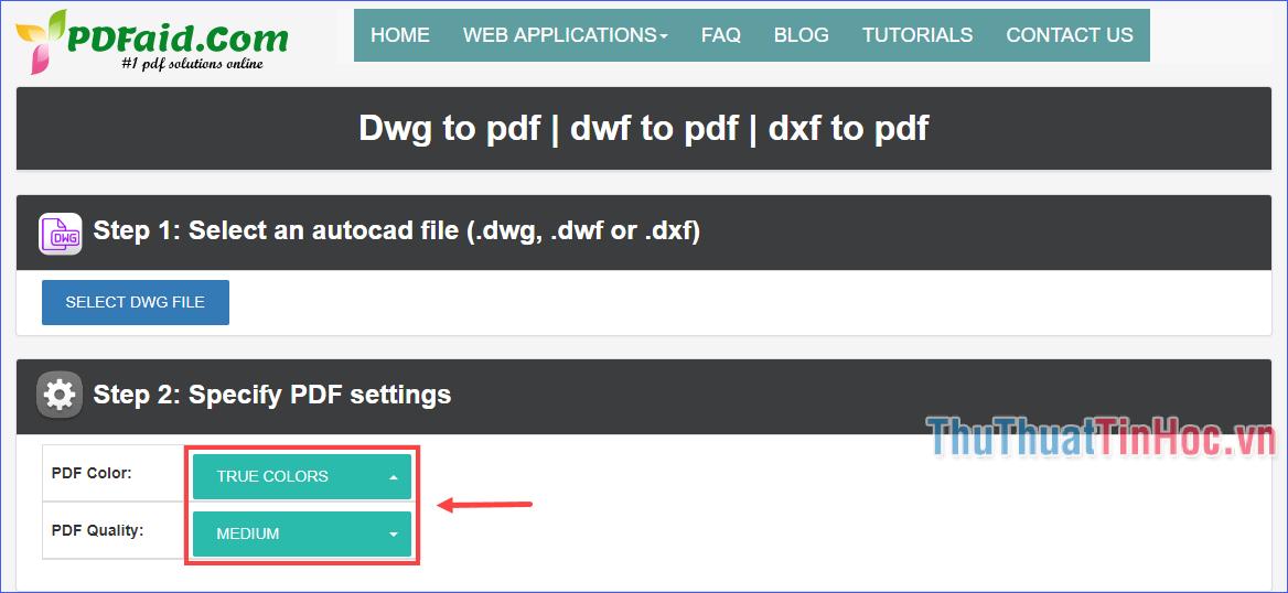 Tuỳ chỉnh màu sắc và chất lượng file PDF đầu ra