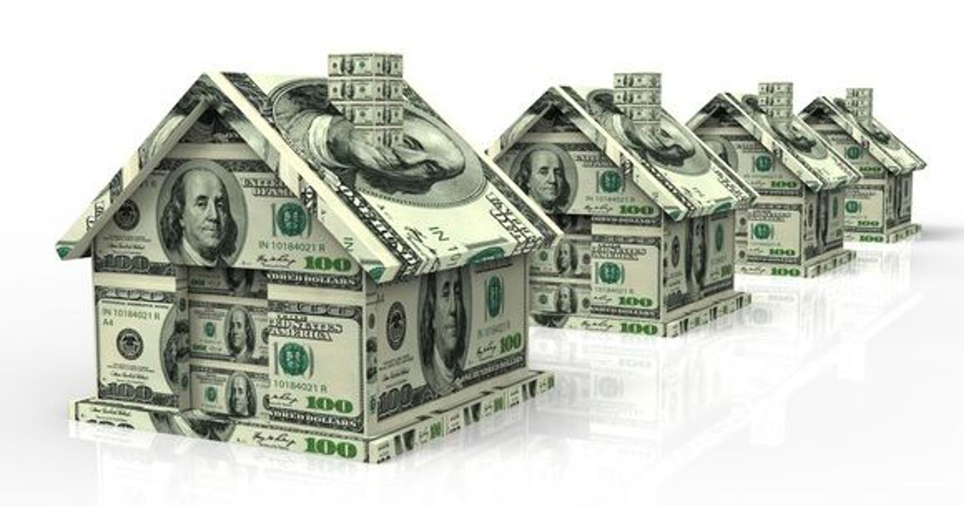 Hình ảnh các ngôi nhà xếp từ tiền đẹp