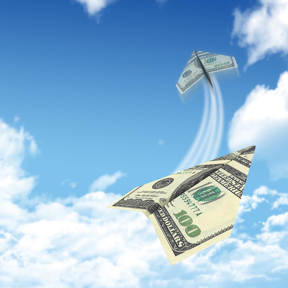 Hình ảnh tiền bay đẹp